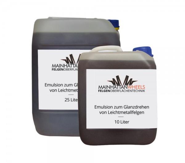 Emulsion zum Glanzdrehen von Leichtmetallfelgen - 25 Liter